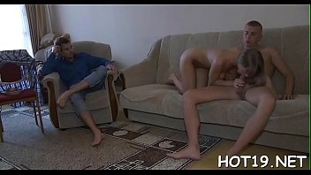 in and girl beautiful most sucking porn fucking Husband peep busty cheating wife