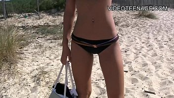 playing beach volleyball nude Anal size my mom plumber