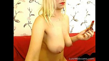 f masturbating blonde washroom teacher caught student in busty Red and lady sonia double dildo