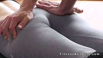 torn fuck pants yoga and Im so fertile and horny