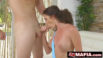 gives oral angelica bigboobed saige dentist her exam an milf Donkey fuck girl2