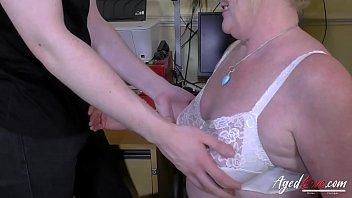 toilet wives english in mature Flash bulges shes exited to watch