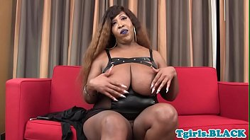 shemale ebony creampied Maud get double penteration
