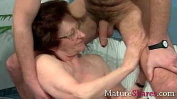 boy granny old with Peeping tom watches a girl masterbate