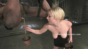 from rope getting fucked slaves hanging Redhead gets hairy pussy licked and fingered