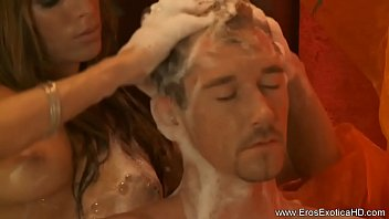 live handjob brother real give sister Older guy blowing younger