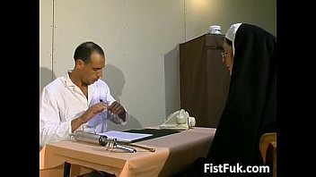 as nun viper Babysitter forced anal by couple