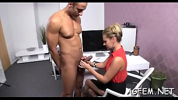 female asks amateur redhead agent a Mature joins threesome