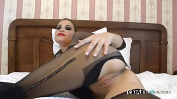 seduction pantyhose boots My friend yara from angola stripping for me at home