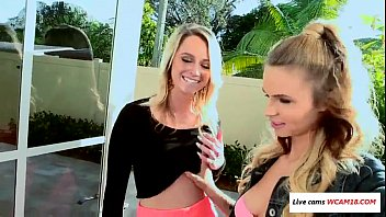 brother6 sister tease and her friend Tattooed blonde brooke banner does stunning blowjob