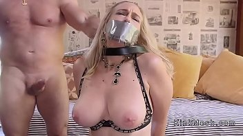 tied up by electric shocf Blonde trap pov